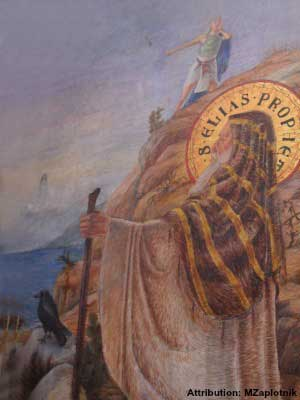 Elias the holy prophet who ascended Mt Carmel