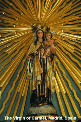 Virgin of Mt Carmel, Madrid Spain