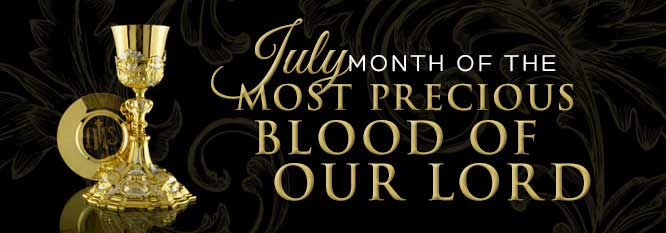 Header - July: Month of the Precious Blood of Jesus