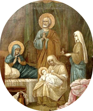 Oval-The Nativity of the BVM