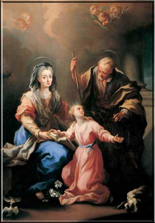 St Anne, St Joachim and the Blessed Virgin Mary
