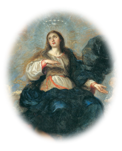 Painting of Our Lady crowned with stars