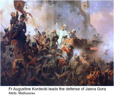 Fr Augustine leads the defense of Jasna Gora