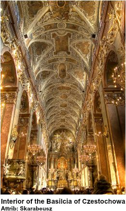 Interior of the Basilica of Czestochowa