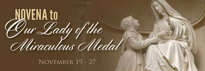 Novena to Our Lady of the Miraculous Medal November 19-27