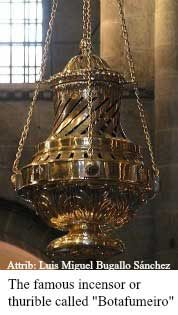 "The famous incensor or thurible called ""Botafumeiro"""