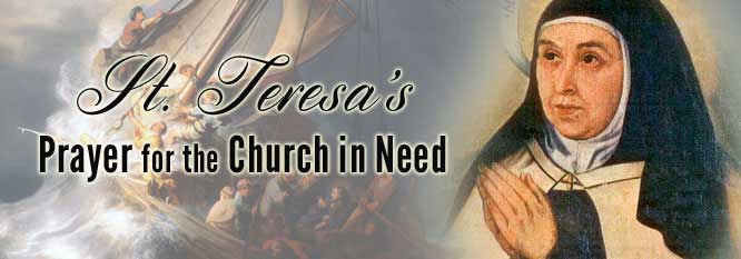 Header - St Teresa's prayer for the church