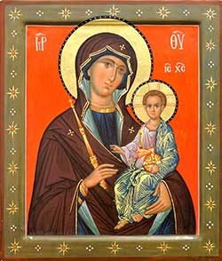 Icon of Our Lady holding Jesus