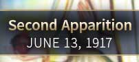Second apparition-June 13, 1917