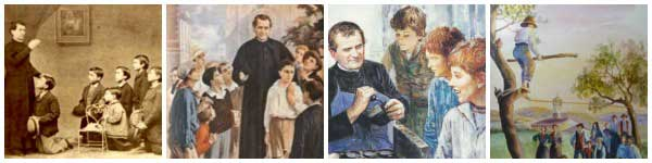 St John Bosco - Image collage