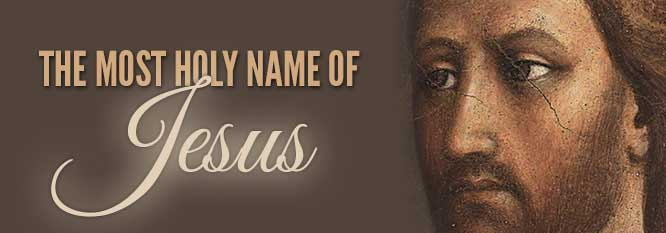 Header - The Most Holy Name of Jesus