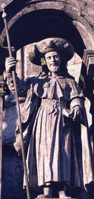 A statue of Saint James the Greater