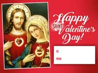 Happy St Valentine - Jesus and Mary