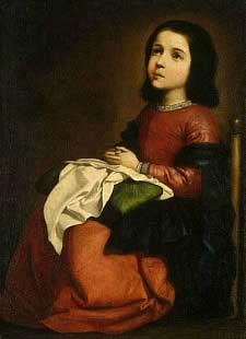 Painting of the Young Virgin Mary