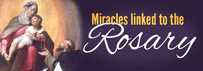 Miracles Linked to the Rosary Header