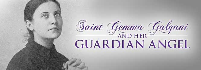 Header-St Gemma Galgani and her Guardian Angel