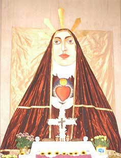 Modern image of the Immaculate Heart of Mary.