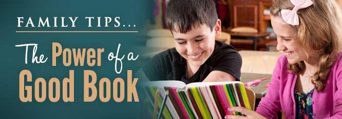 Header - Family Tip 8 - Power of a good book