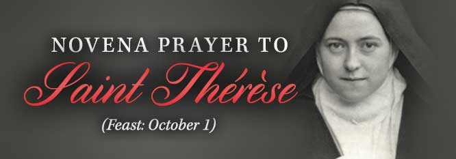Header - Novena Prayer to St Therese