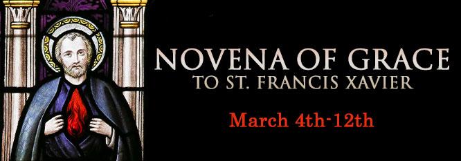 Header - Novena of Grace to St Francis Xavier
