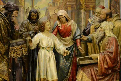 Young Jesus in the Temple
