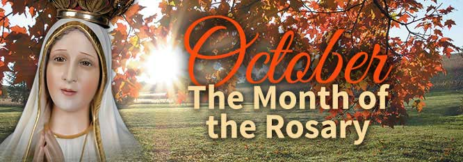 October - Month of the Rosary Header