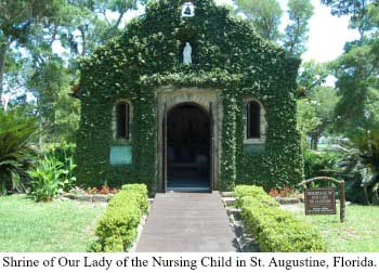 Shrine of Our Lady of the Nursing Child in St. Augustine, Florida