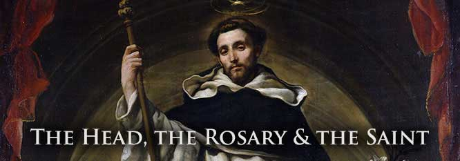 The Head, The Rosary and The Saint Header
