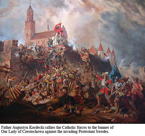 Battle of Czestochowa Painting