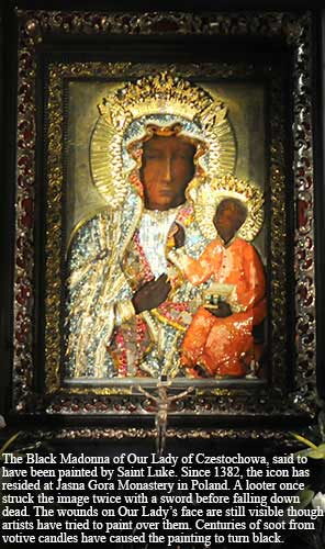 The Black Madonna of Our Lady of Czestochowa