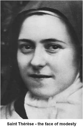 St Therese, the face of modesty