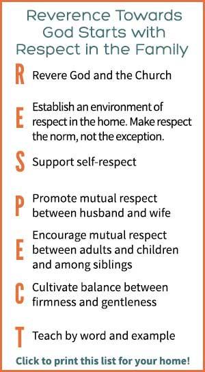 Restoring Respect in the Family