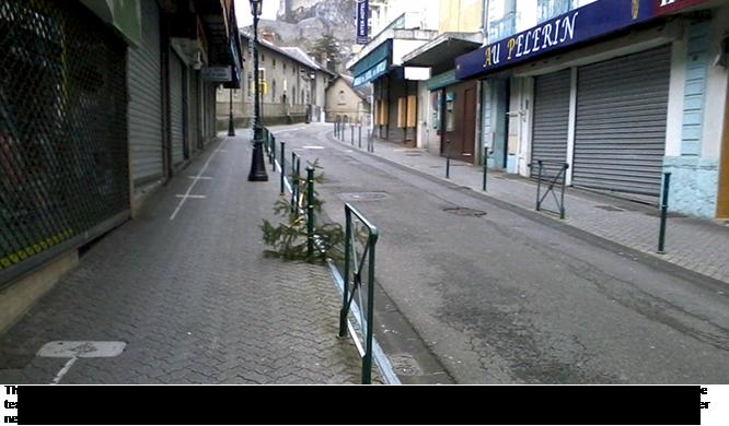 Street in Lourdes