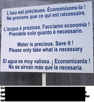 Sign at Lourdes