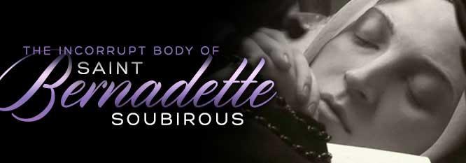 Header - Incorrupt body of St Bernadette