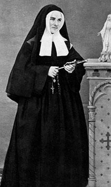 St Bernadette as a nun