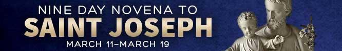 St Joseph Novena Banner