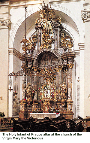 The altar in the Church of the Virgin Mary the Victorious