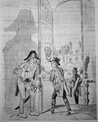 Mathiote distracts the guard while the Count walks out dressed as a chimney sweep.