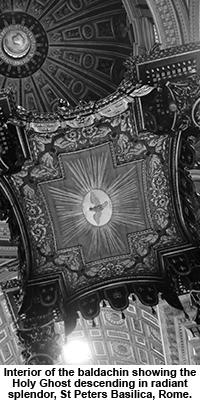Interior of St Peters Basilica, Rome