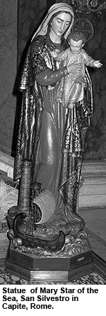Statue of Mary Star of the Sea
