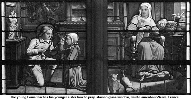 Young Louis de Monfort teaching his sister
