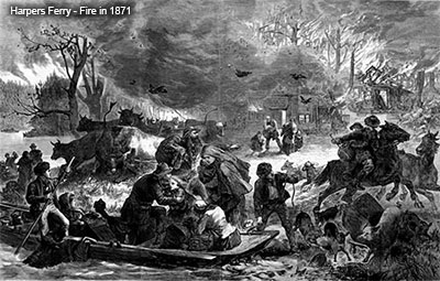 Harpers Ferry Fire painting 1871