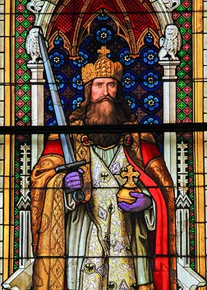 Charlemagne-Stained Glass Window