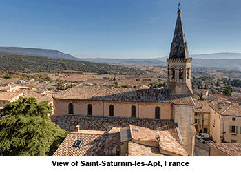 View of Saint-Saturnin-les-Apt, France