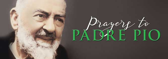Header - prayers to Padre Pio