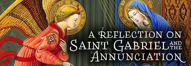 Header - Reflection on St Gabriel and the Annunciation