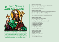 St Patrick's Breastplate Prayer Card