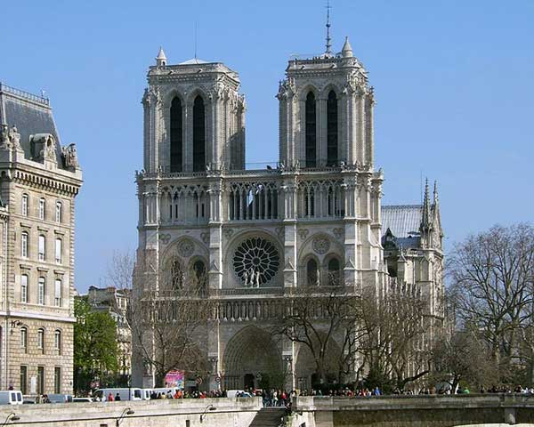 Two Towers of Notre Dame Cathedral in Paris