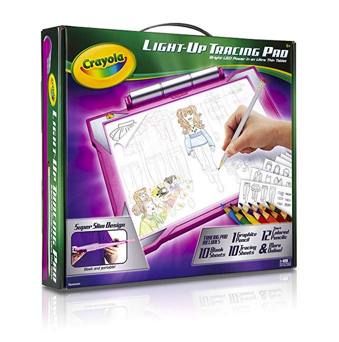 Crayola Light-up Tracing Pad Pink, Coloring Board for Kids